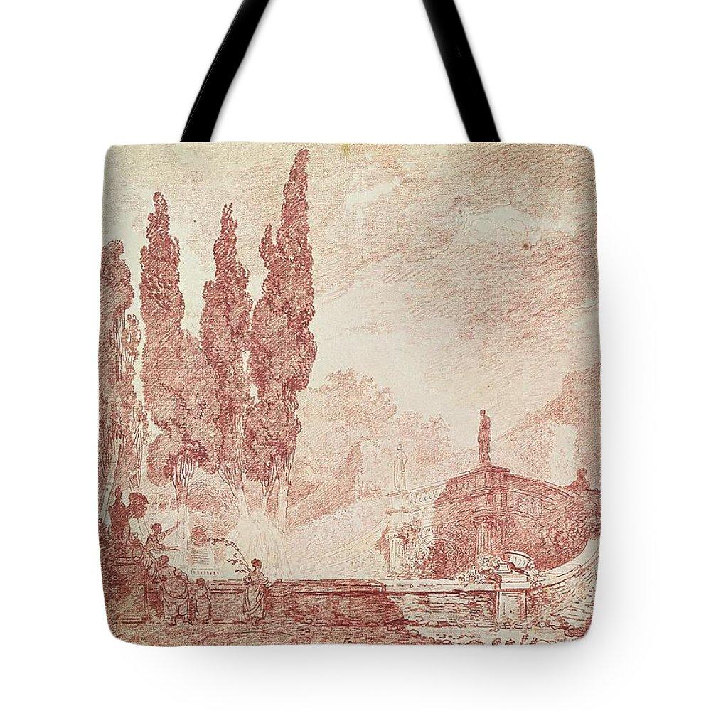 Garden Steps Drawings Tote Bags