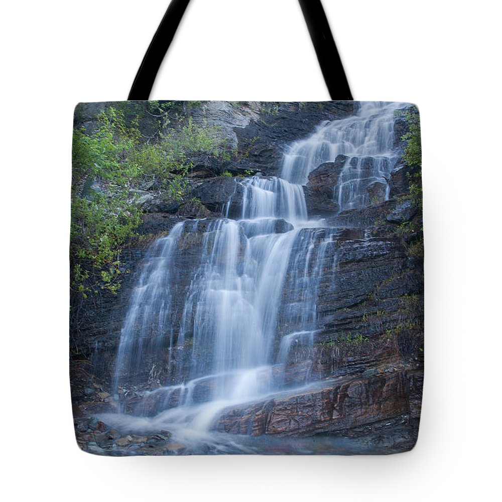Waterfall Tote Bag featuring the photograph Staircase Waterfall by Jack Bell