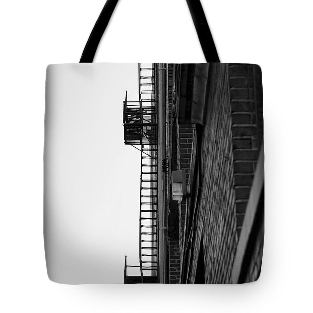 B&w Tote Bag featuring the photograph Stairs To Heaven by Deb Buchanan