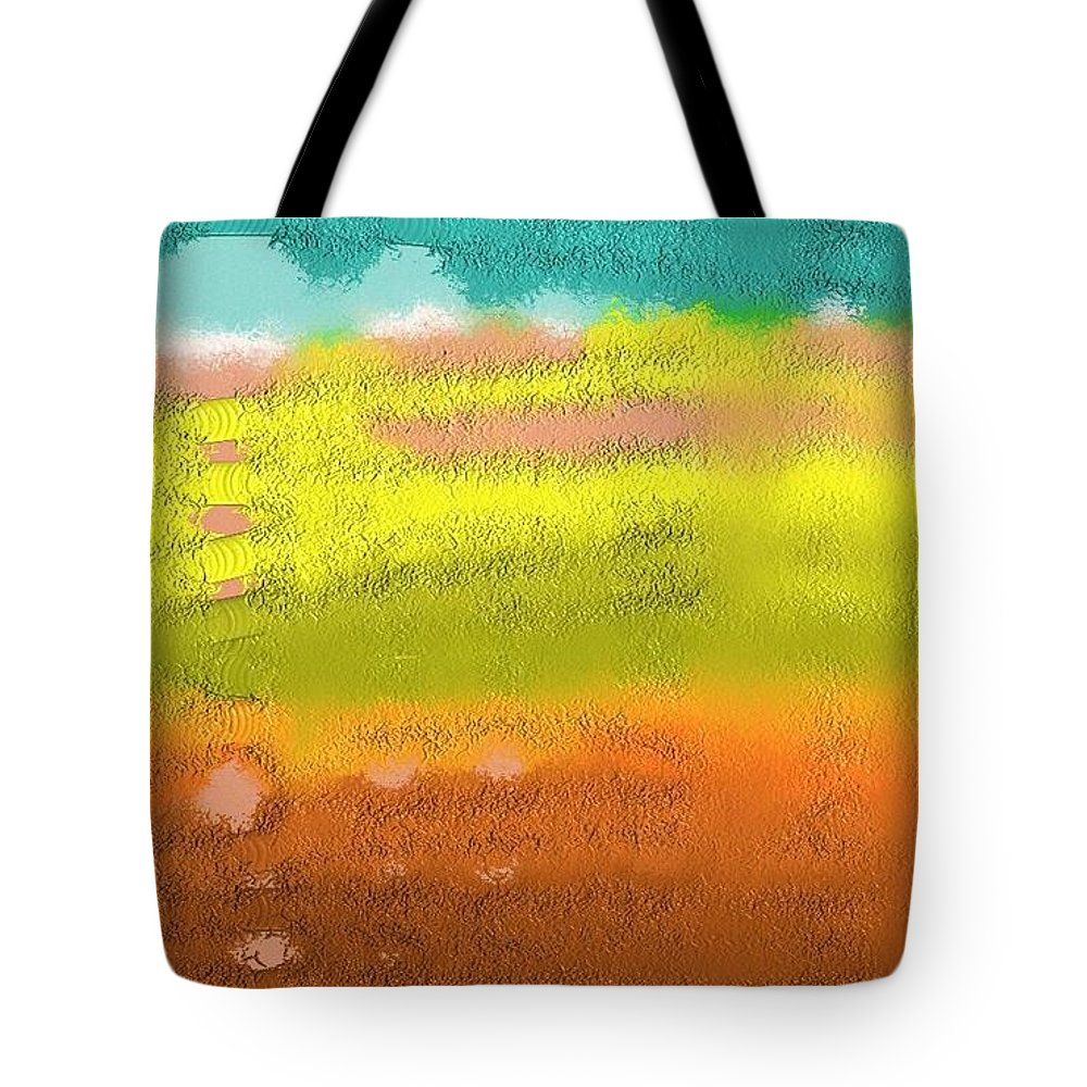 Expressive Tote Bag featuring the painting Stairway by Lenore Senior
