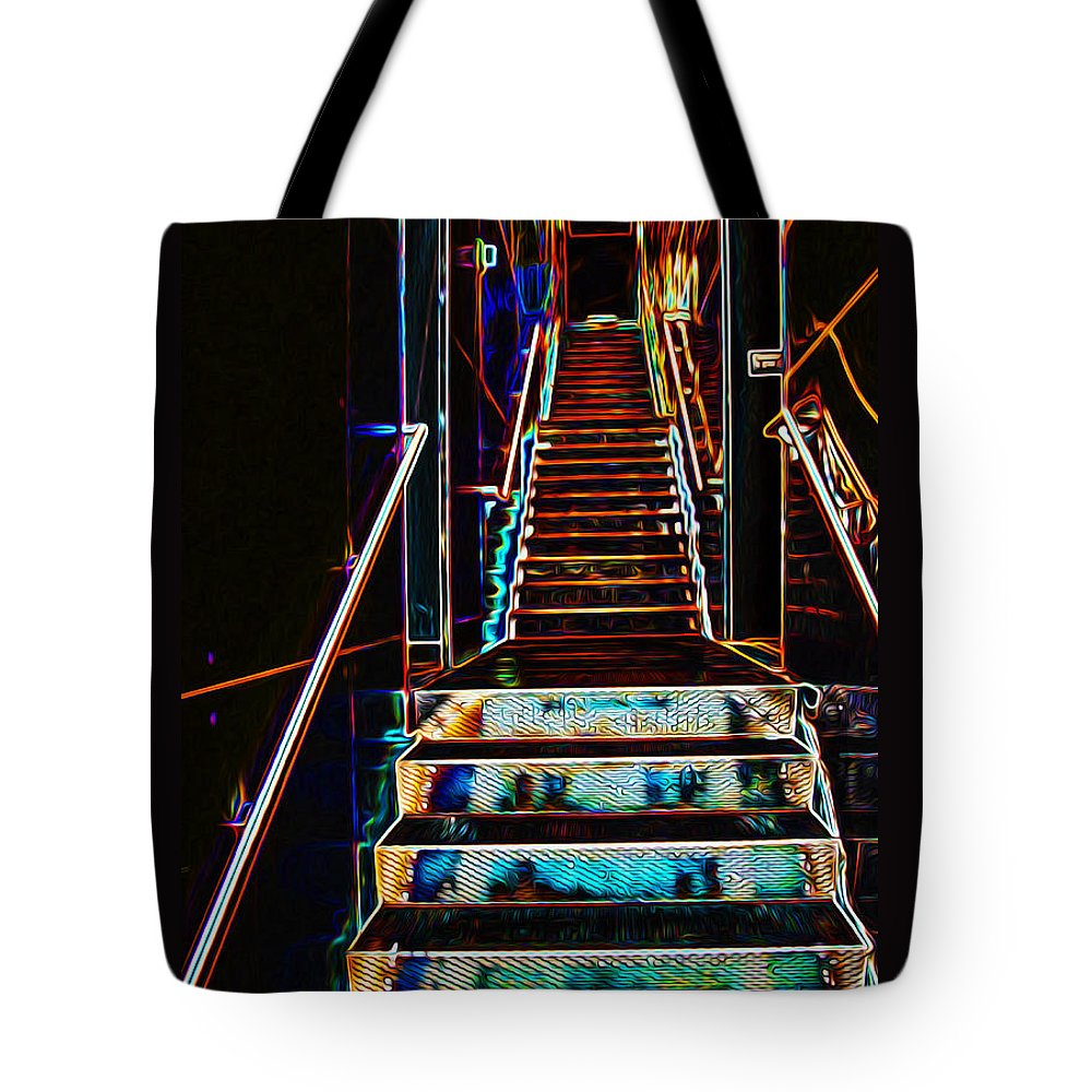 Glow Tote Bag featuring the photograph Stairway To Heaven by Phil Cardamone