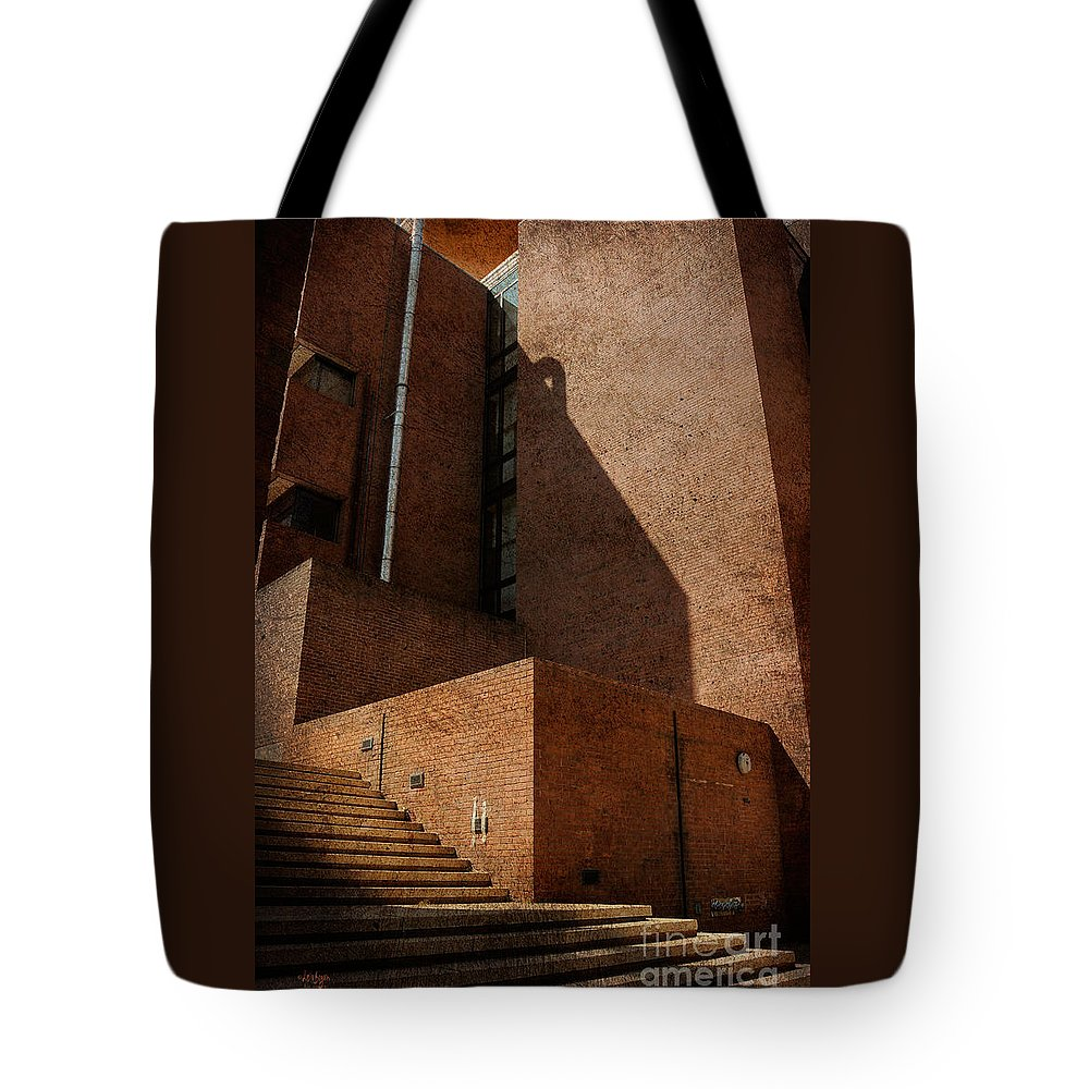 Stairs Tote Bag featuring the photograph Stairway To Nowhere by Lois Bryan
