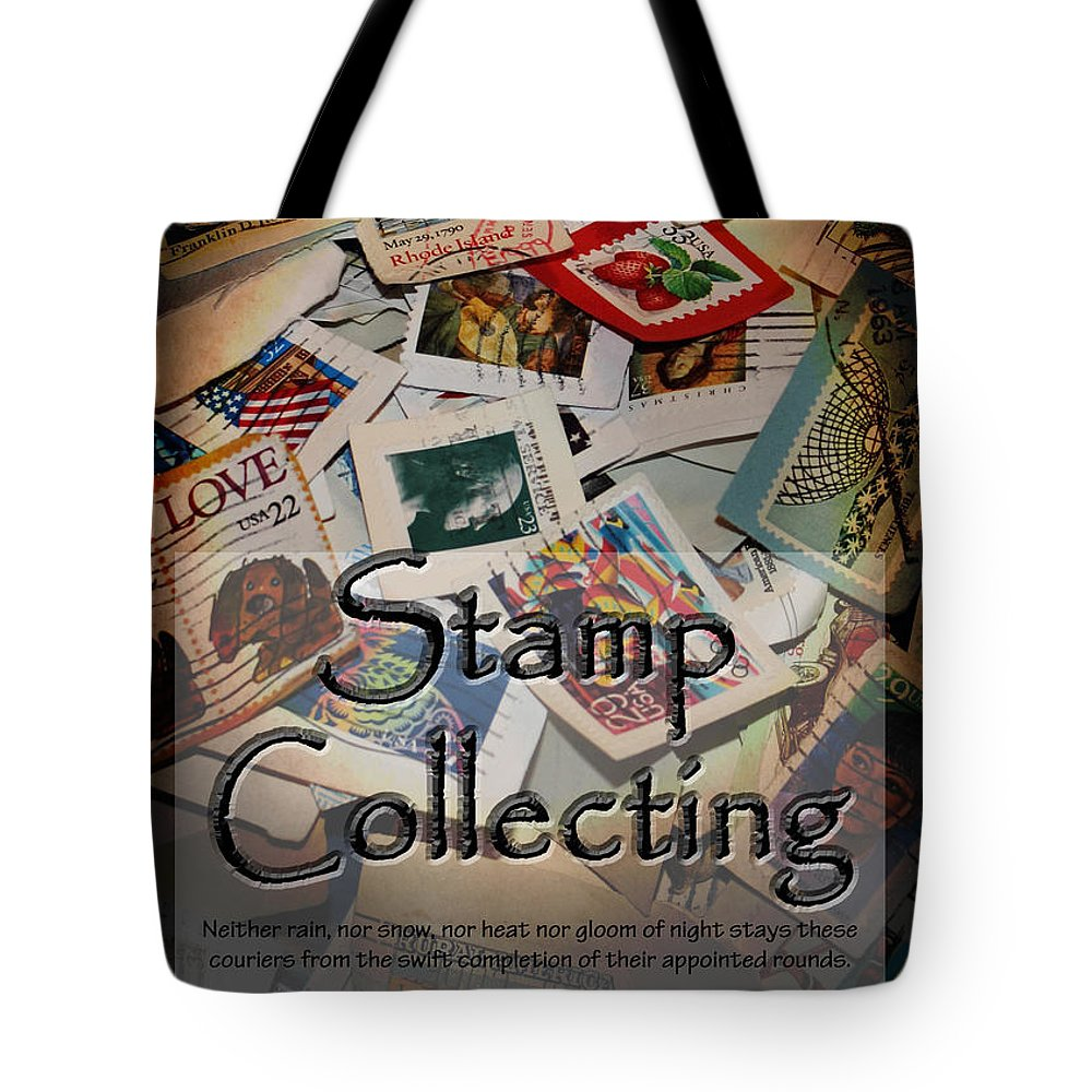 Stamps Tote Bag featuring the photograph Stamp Colleting by Karen Beasley