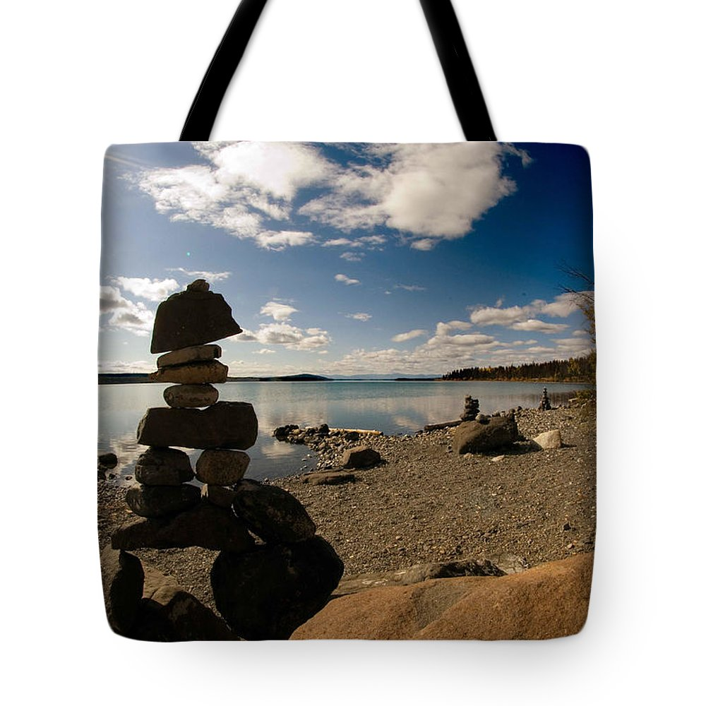 Water Tote Bag featuring the photograph Standing Tall by Randy Giesbrecht