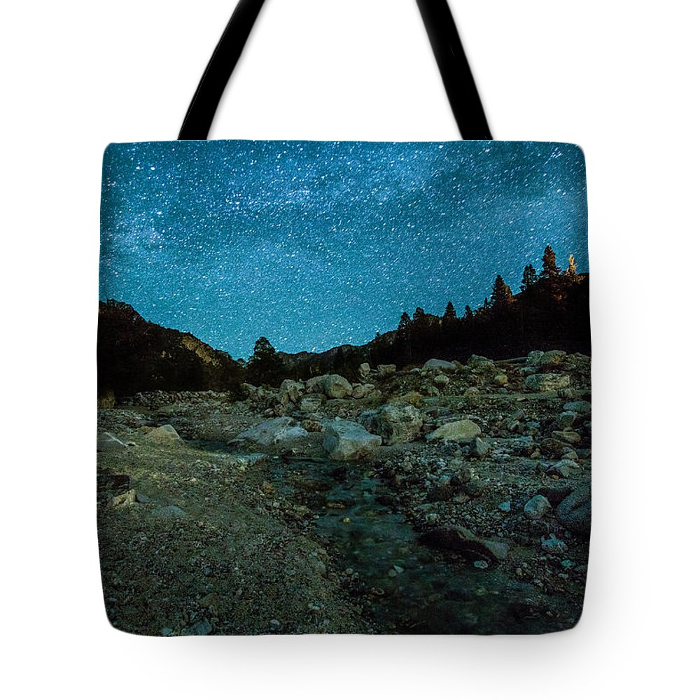 Big Bear Photography Tote Bag featuring the photograph Star Showers by Dave Muesbeck