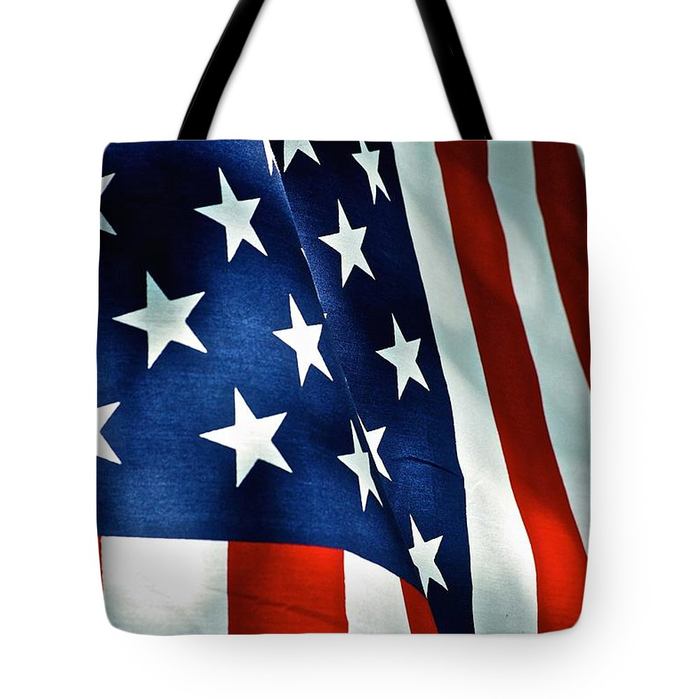 Frank J Casella Tote Bag featuring the photograph Star-spangled Banner by Frank J Casella