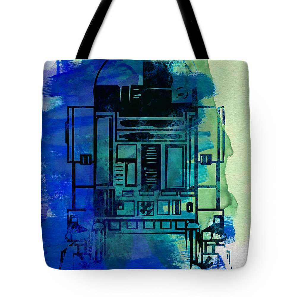 Star Wars Tote Bag featuring the painting Star Warriors Watercolor 4 by Naxart Studio