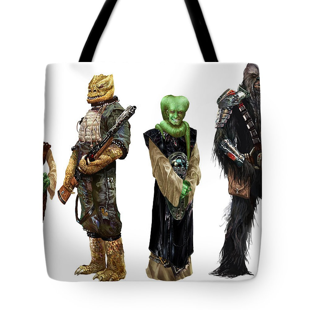 Star Wars Tote Bag featuring the digital art Star Wars Edge Of The Empire  Species Lineup a2abb30e5634e