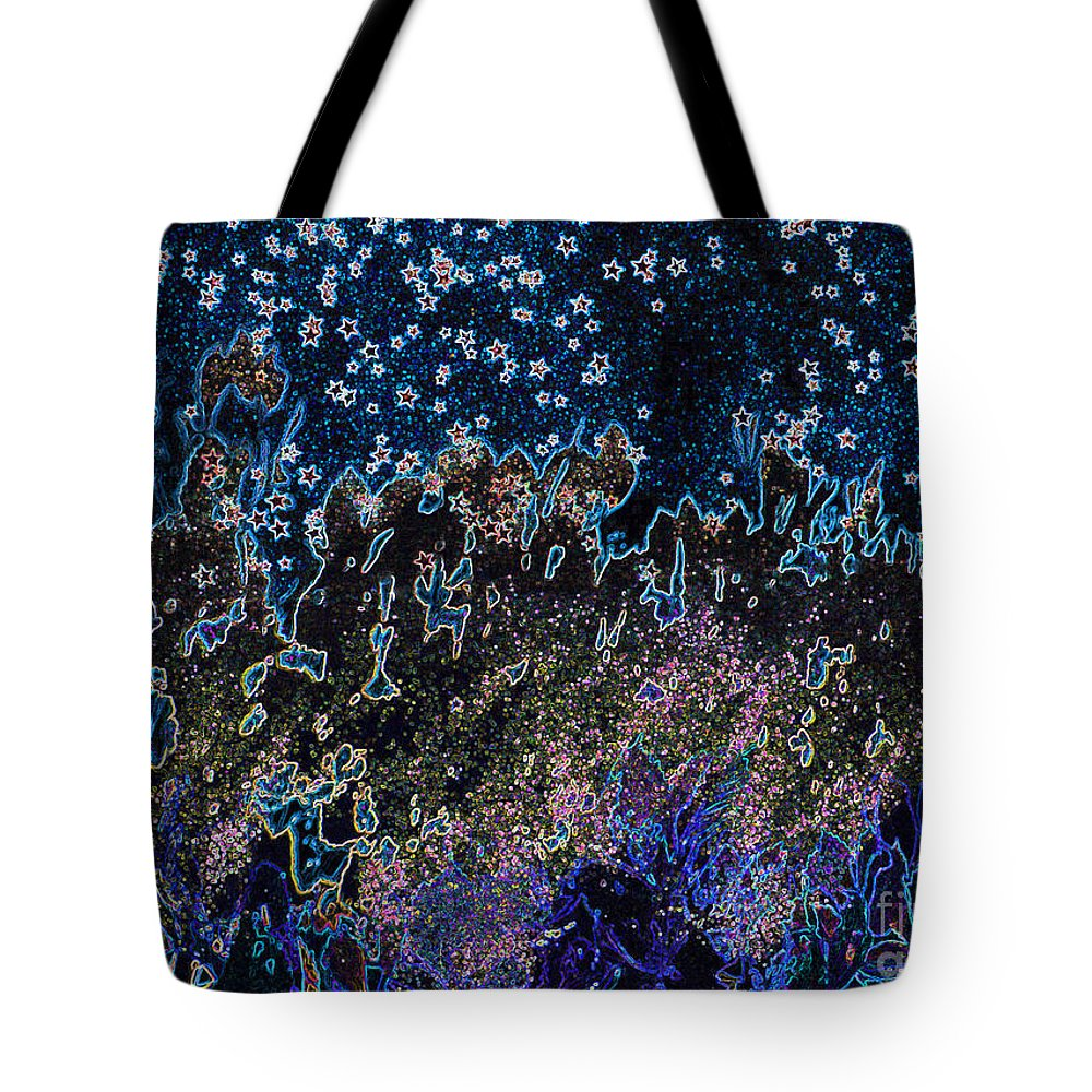 First Star Tote Bag featuring the mixed media Stardust By Jrr by First Star Art