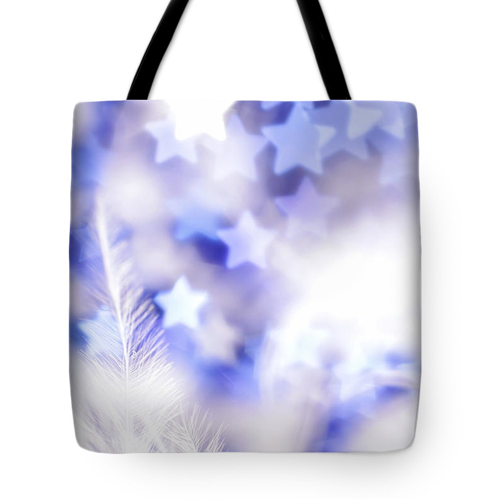 Abstract Tote Bag featuring the photograph Stardust by Dazzle Zazz