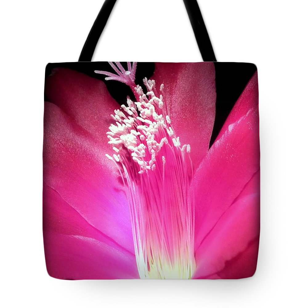 Hot Pink Tote Bag featuring the photograph Stardust by Karen Wiles