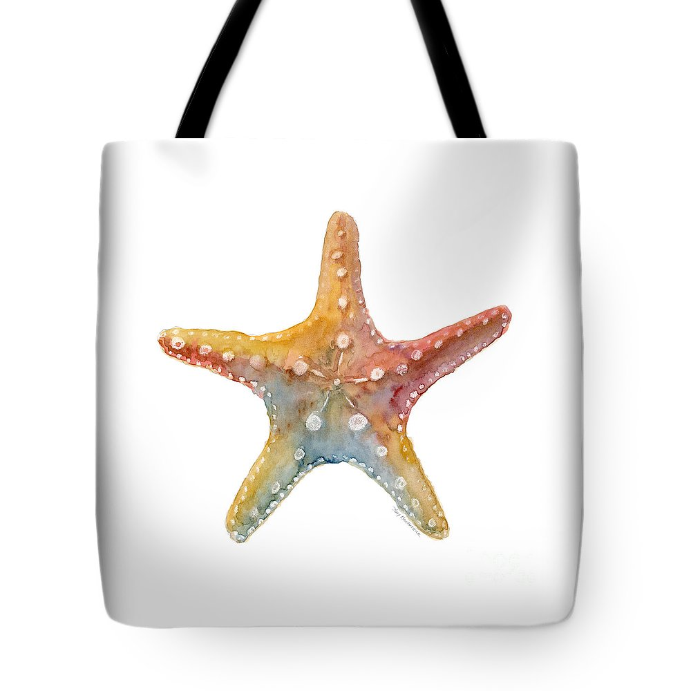 Shell Tote Bag featuring the painting Starfish by Amy Kirkpatrick