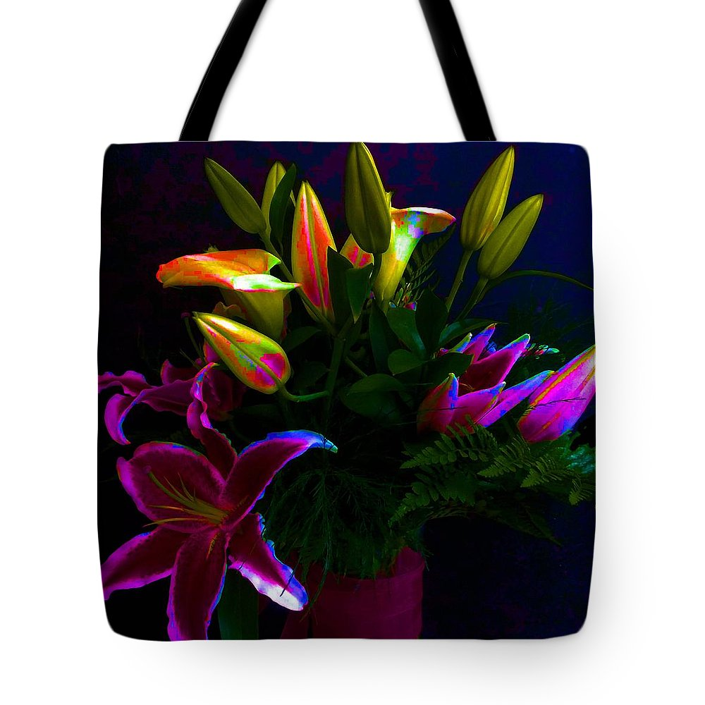 Floral Tote Bag featuring the photograph Stargazer Bouquet by Carolyn Repka