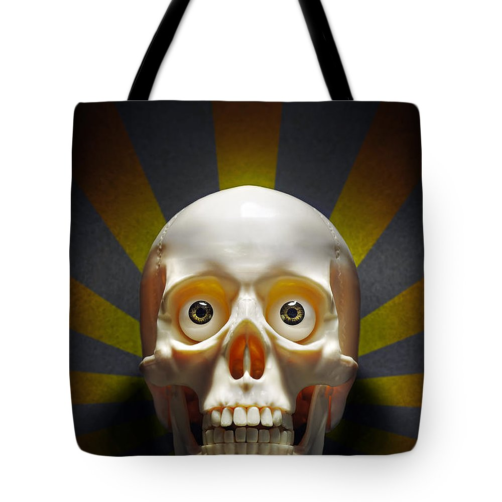 Anatomy Tote Bag featuring the photograph Staring Skull by Carlos Caetano