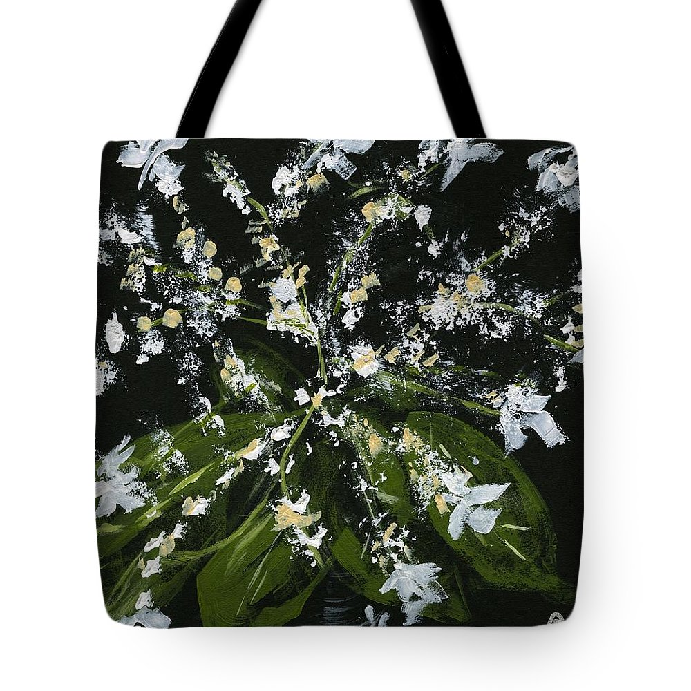 Flowers Tote Bag featuring the painting Stars by Alice Faber