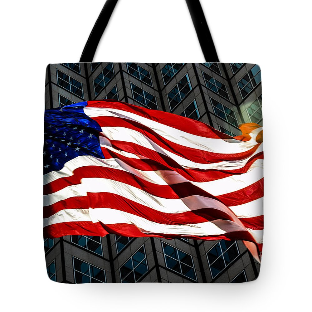 American Flag Tote Bag featuring the photograph Stars And Stripes by Rene Triay Photography