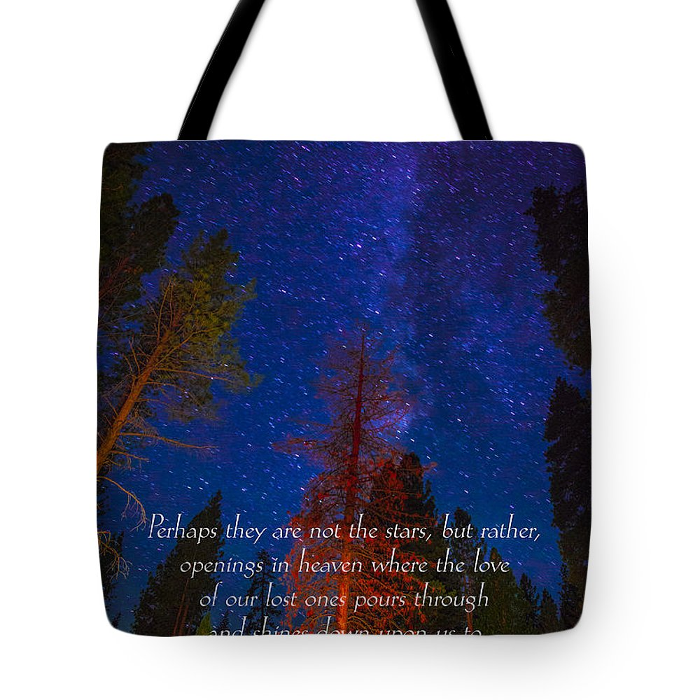 Inspirational Greeting Cards Grieving Note Cards Tote Bag featuring the photograph Stars Light Star Bright Fine Art Photography Prints And Inspirational Note Cards by Jerry Cowart