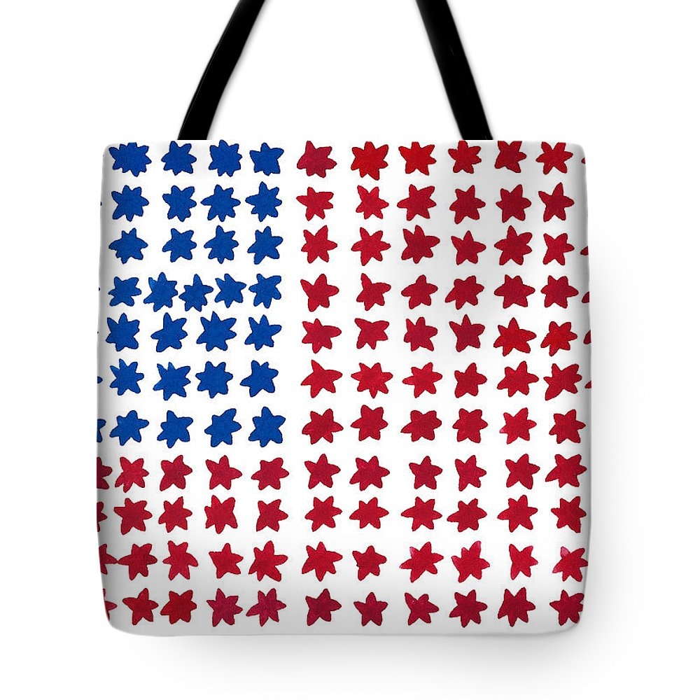 Contemporary Tote Bag featuring the painting Stars No Stripes by Bjorn Sjogren