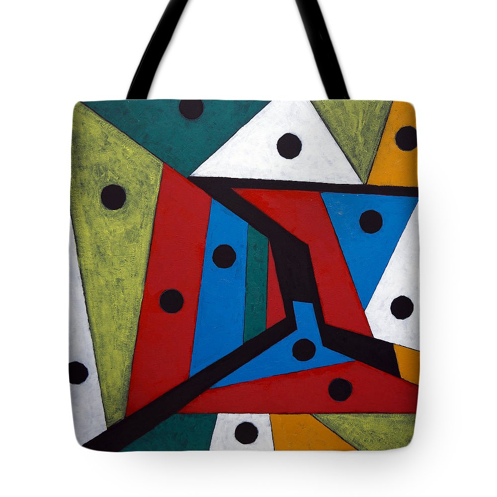 Acrylic Tote Bag featuring the painting Stars by Sergey Bezhinets