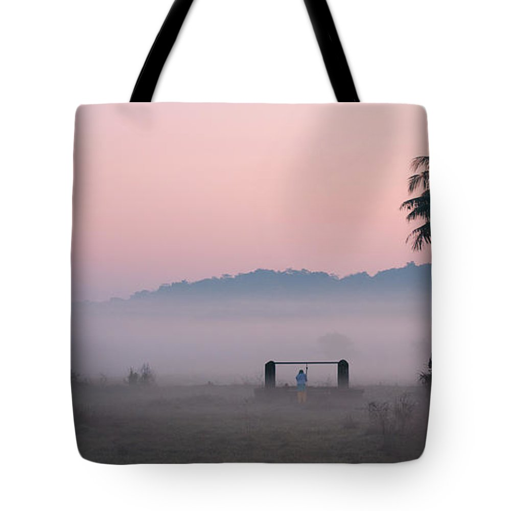 Morning Tote Bag featuring the photograph Start by Dattaram Gawade