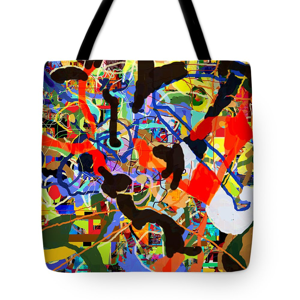 Torah Tote Bag featuring the digital art Wiping Out The Language Of Amalek 9dbg by David Baruch Wolk