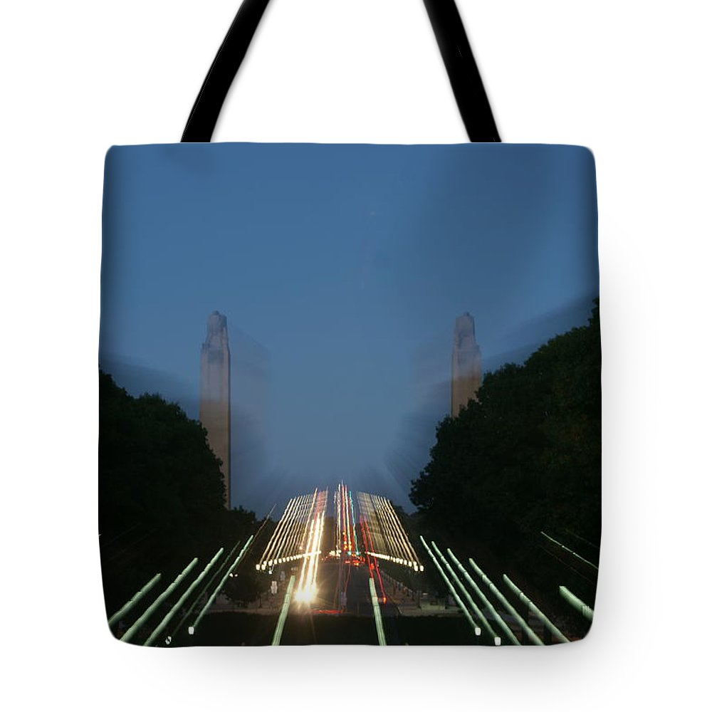 Plaza Tote Bag featuring the photograph State Capital Plaza Zoomey by Rob Luzier