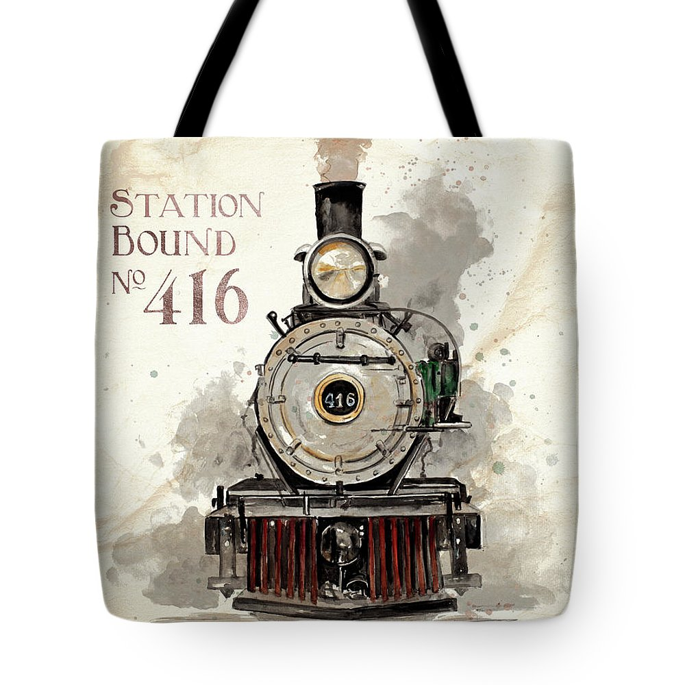Station Tote Bag featuring the painting Station Bound No.416 by Patricia Pinto
