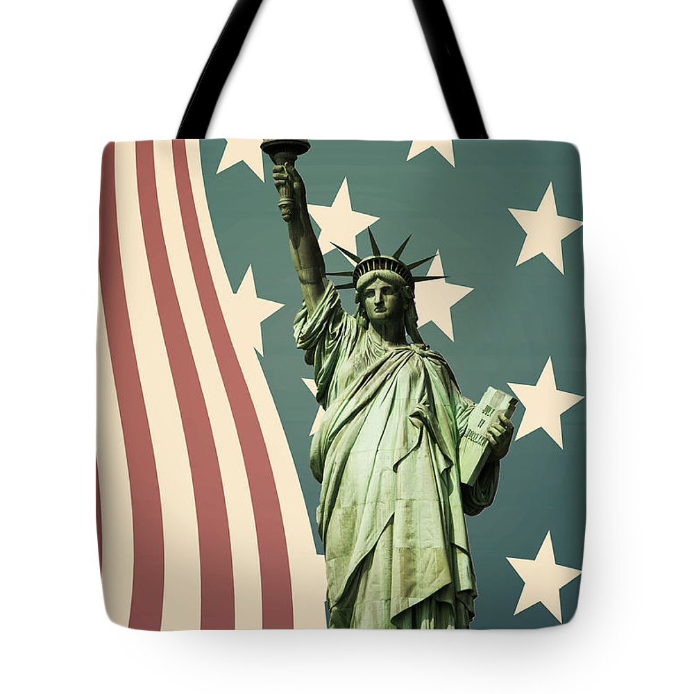 America Tote Bag featuring the photograph Statue Of Liberty by Juli Scalzi