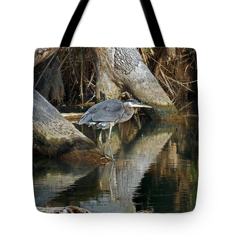 Nature Tote Bag featuring the photograph Statues by Skip Willits