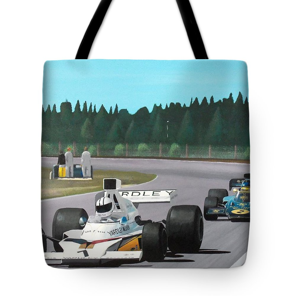 Car Tote Bag featuring the painting Stealing The Show by Kieran Roberts