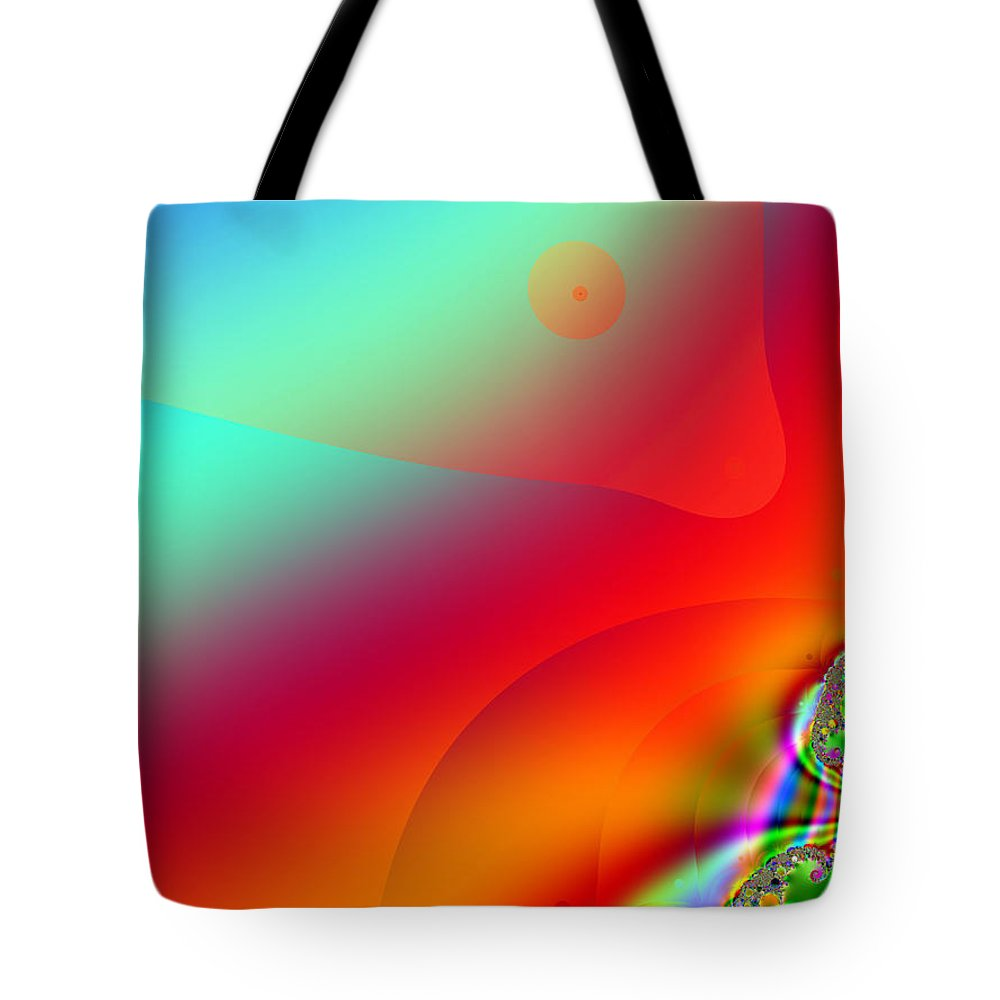 Abstract Tote Bag featuring the digital art Stealth by Wendy J St Christopher