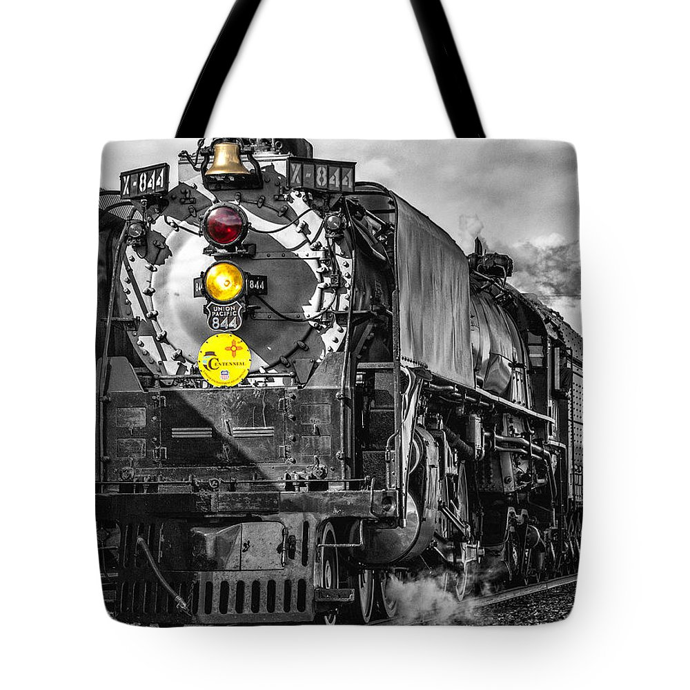Steam Locomotive Tote Bag featuring the photograph Steam Engine 844 by Diana Powell
