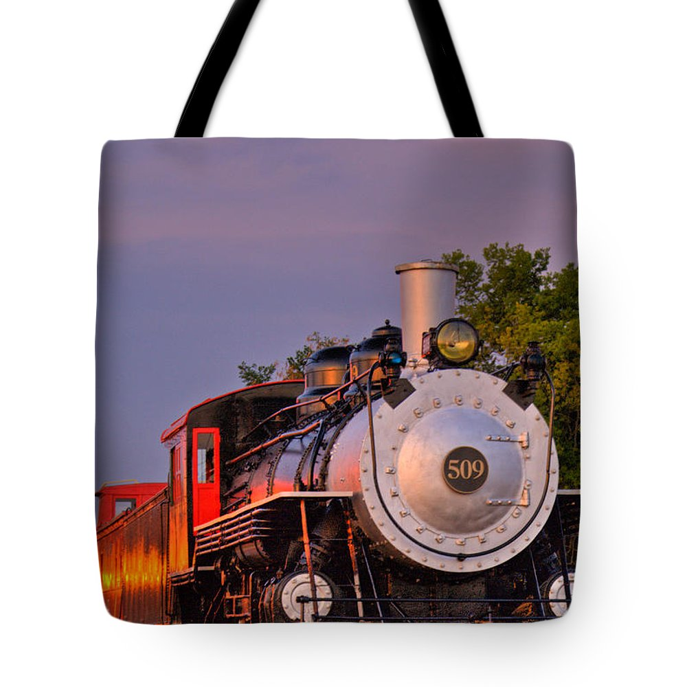 Steam Tote Bag featuring the photograph Steam Engine Number 509 by Douglas Barnett