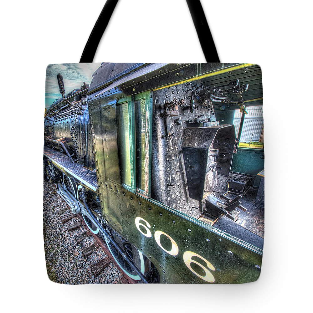 Historic Tote Bag featuring the photograph Steam Locomotive Norfolk And Western No. 606 by Greg Hager