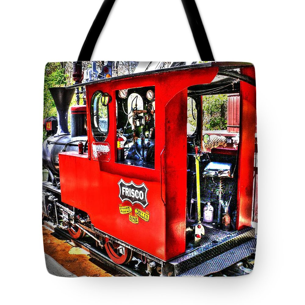 Hdr Tote Bag featuring the photograph Steam Locomotive Old West V2 by John Straton