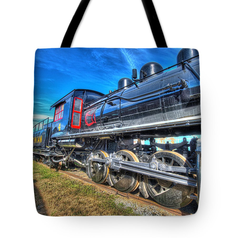Historic Tote Bag featuring the photograph Steam Locomotive Virginian Class Sa No 4 by Greg Hager