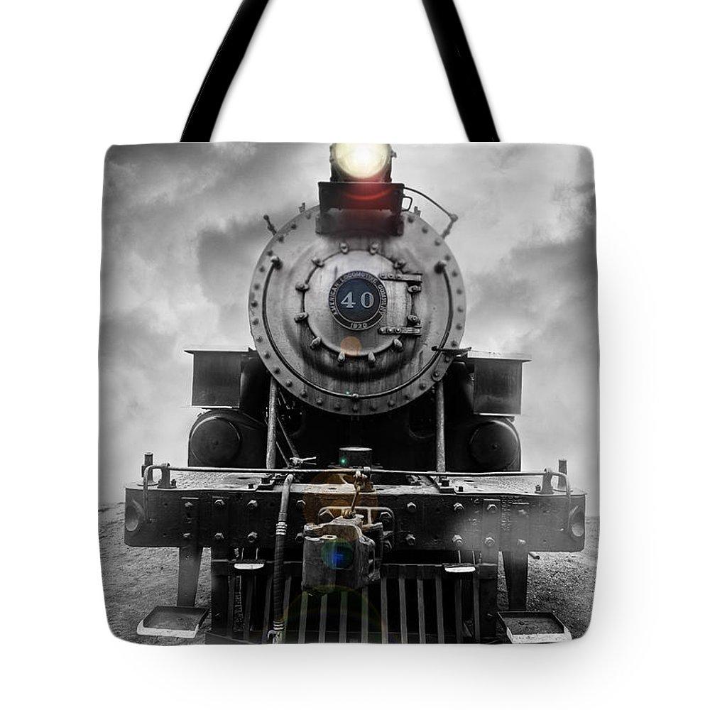 Essex. Train Tote Bag featuring the photograph Steam Train Dream by Edward Fielding