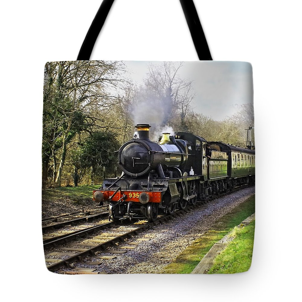 Steam Tote Bag featuring the photograph Steam Train by Paul Williams