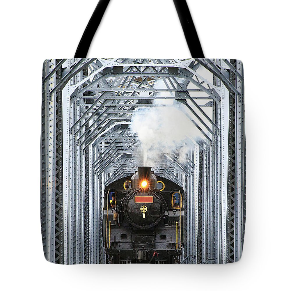 Air Pollution Tote Bag featuring the photograph Steam Train by Peter Hong