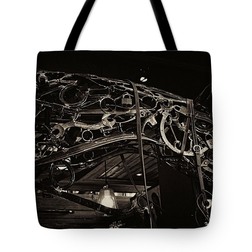 Horse Tote Bag featuring the photograph Steampunk Horse 2 by Tommy Anderson