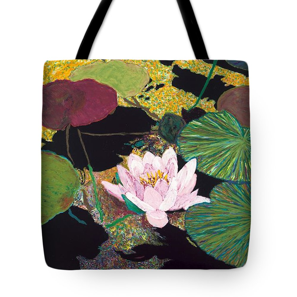 Landscape Tote Bag featuring the painting Steamy Pond by Allan P Friedlander