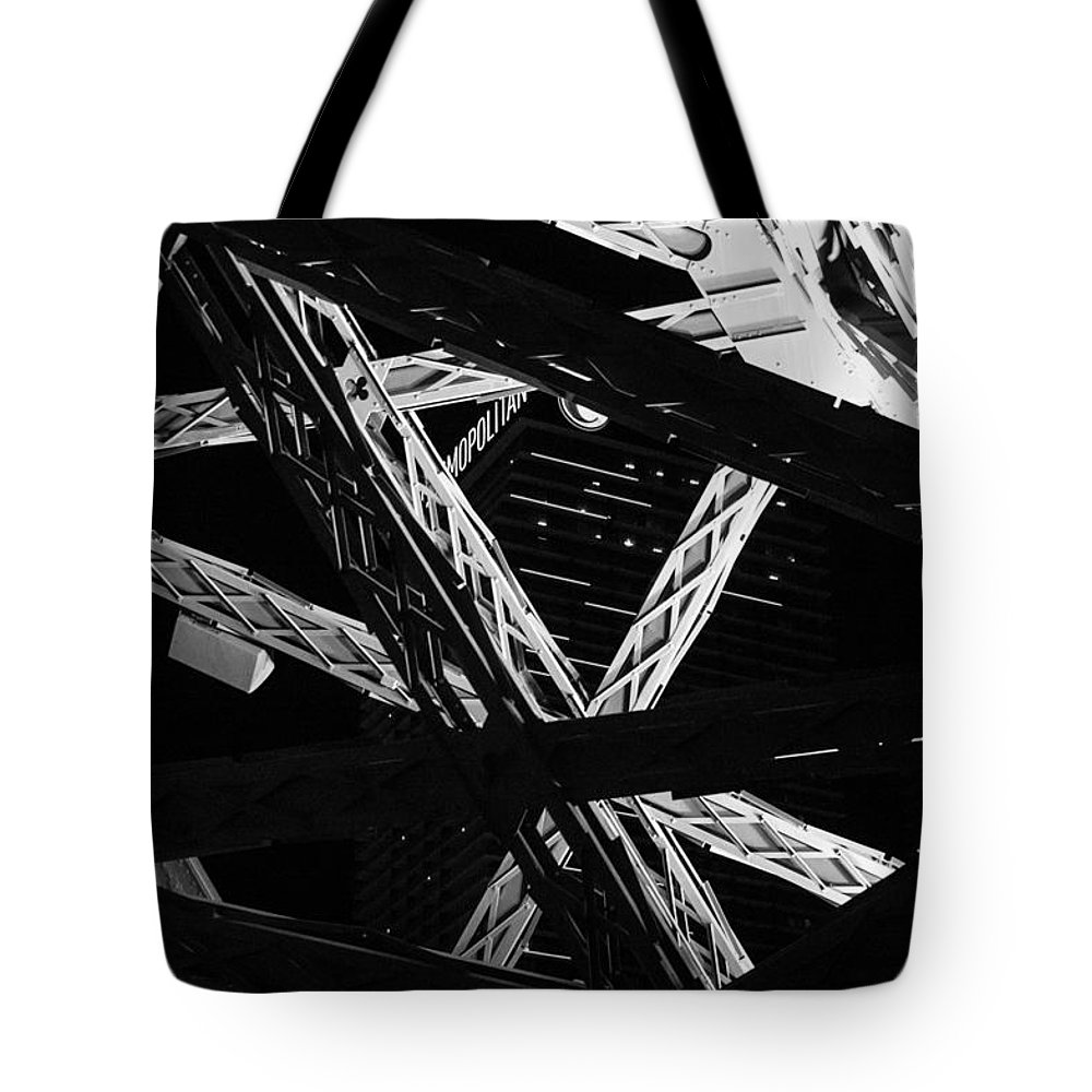 Monochrome Tote Bag featuring the photograph Steel by Alex Lapidus