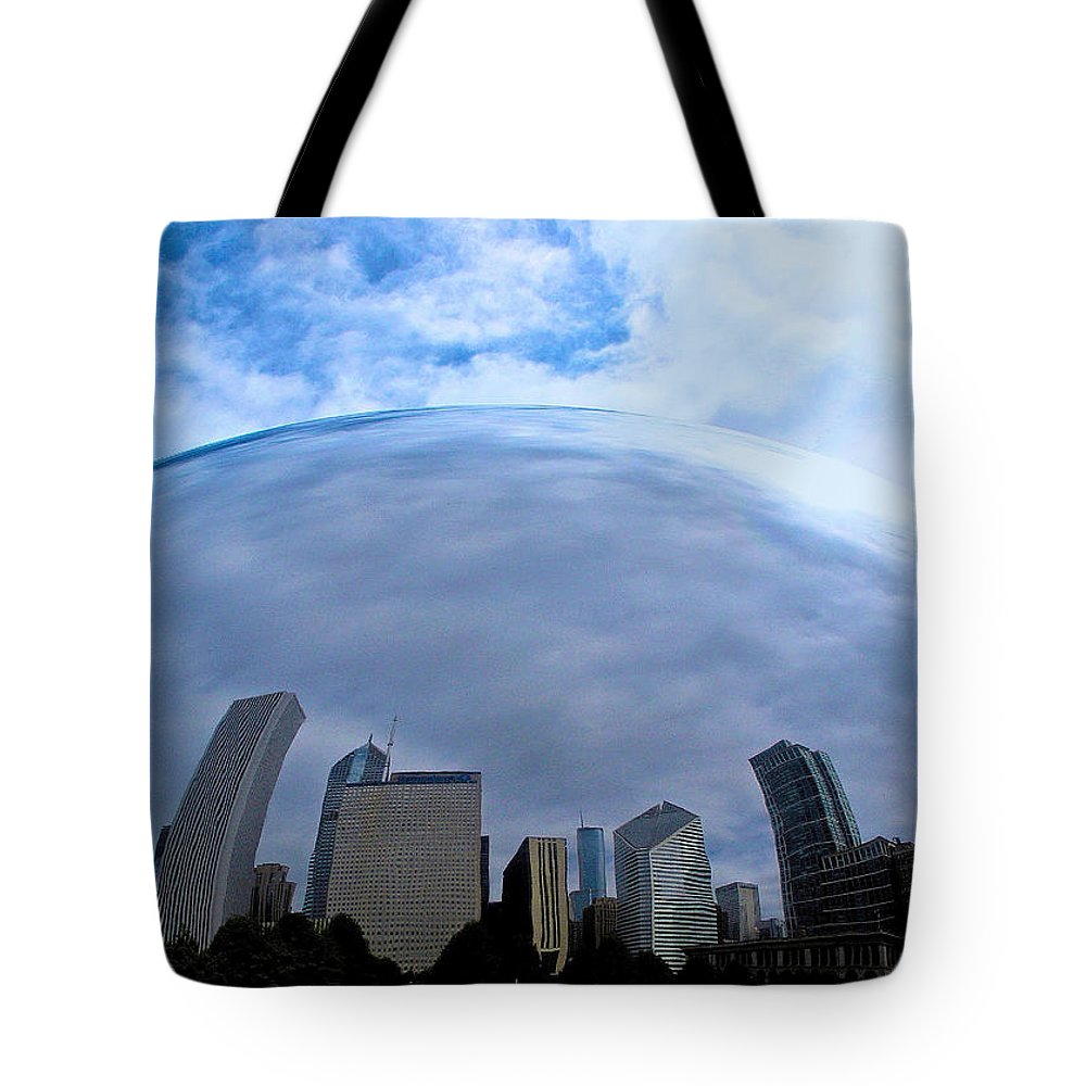 The Bean Tote Bag featuring the photograph Steel Globe by Zafer Gurel