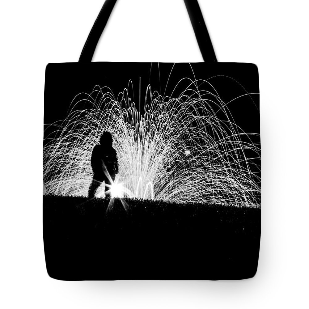 Steel Wool Tote Bag featuring the photograph Steel Silhouette by Cj Avery
