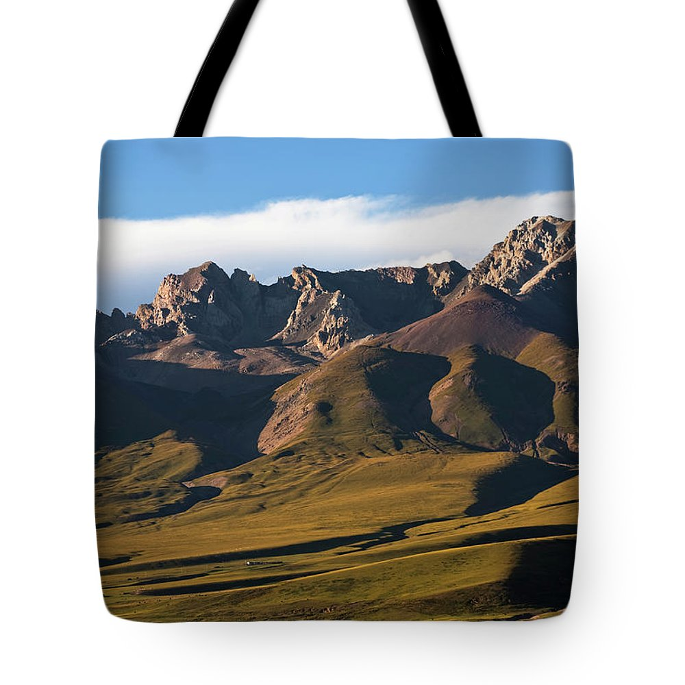 Scenics Tote Bag featuring the photograph Steppe Valley With Surrounding Peaks by Merten Snijders