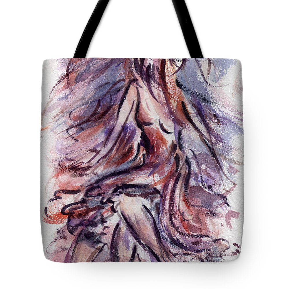 Dancing Tote Bag featuring the painting Still Dancing by Rachel Christine Nowicki