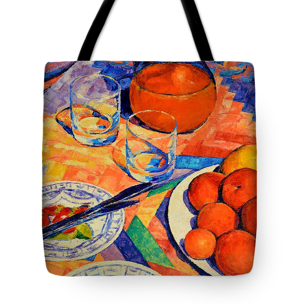 Still Life Tote Bag featuring the painting Still Life 1 by Iliyan Bozhanov