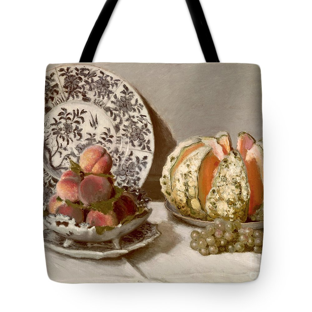 Nature Tote Bag featuring the painting Still Life by Claude Monet
