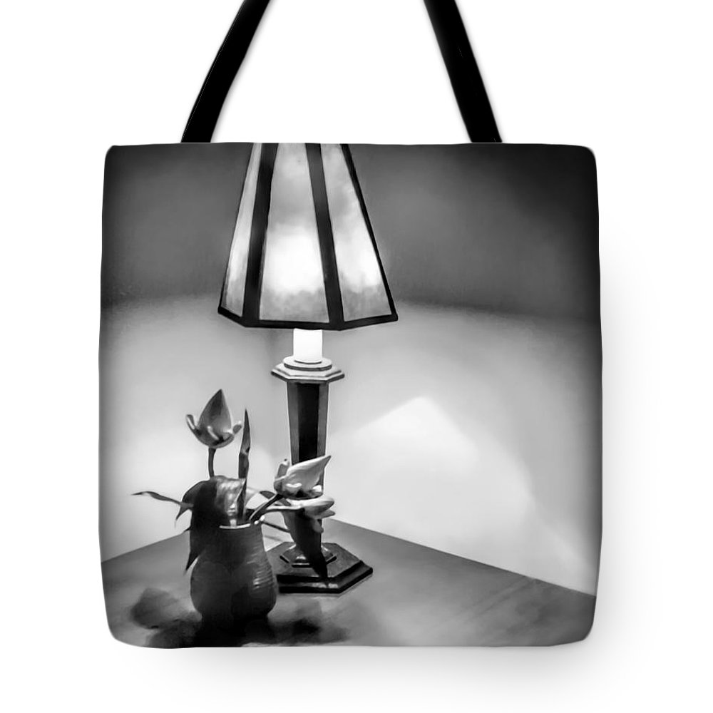 Black And White Tote Bag featuring the photograph Still Life In Cambodia by Jennie Breeze
