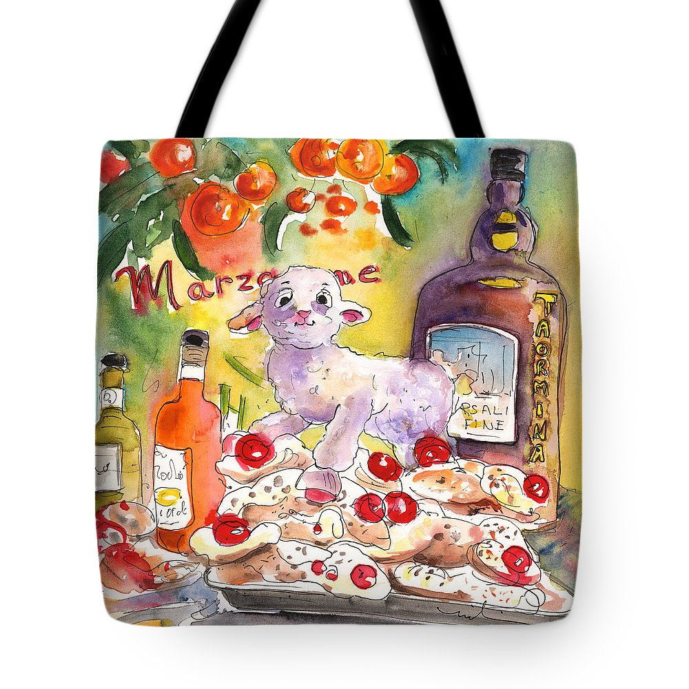 Travel Tote Bag featuring the painting Still Life In Taormina by Miki De Goodaboom